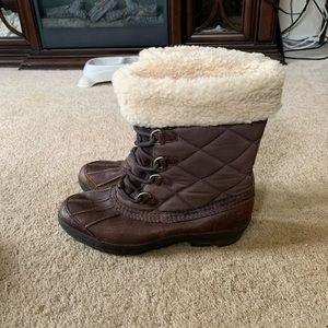 UGG Newberry Waterproof Leather Quilted Boots